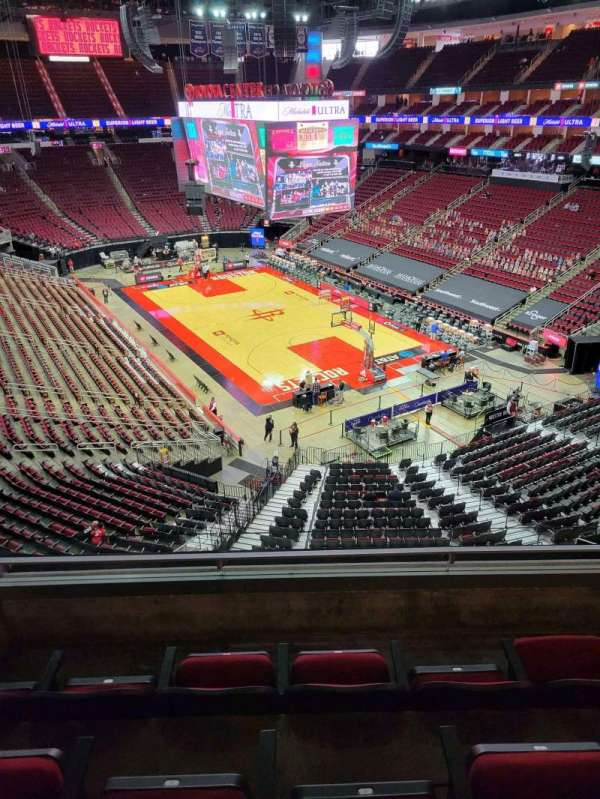 Toyota Center, section: 404, row: 4, seat: 4