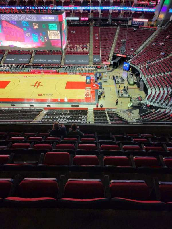 Toyota Center, section: 408, row: 7, seat: 6