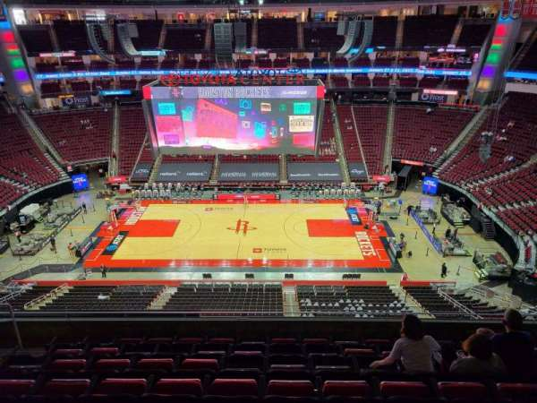 Toyota Center, section: 409, row: 8, seat: 9