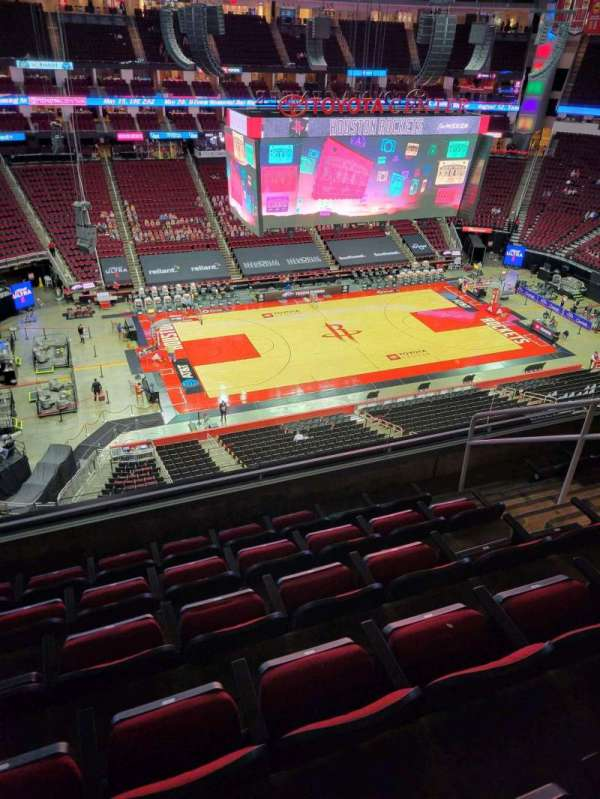 Toyota Center, section: 412, row: 6, seat: 6