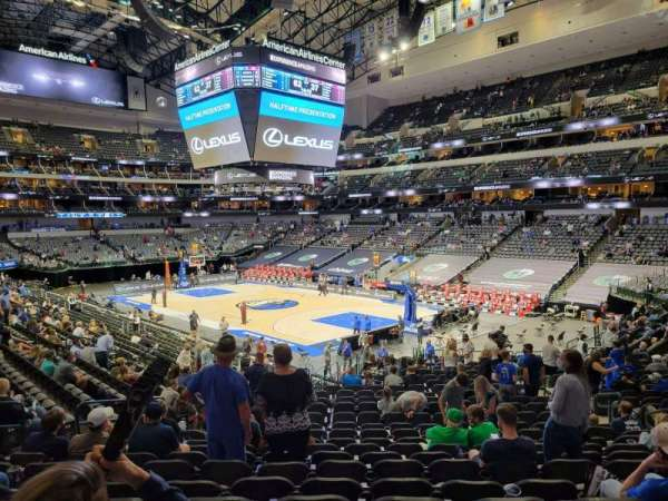 American Airlines Center, section: 102, row: Y, seat: 10