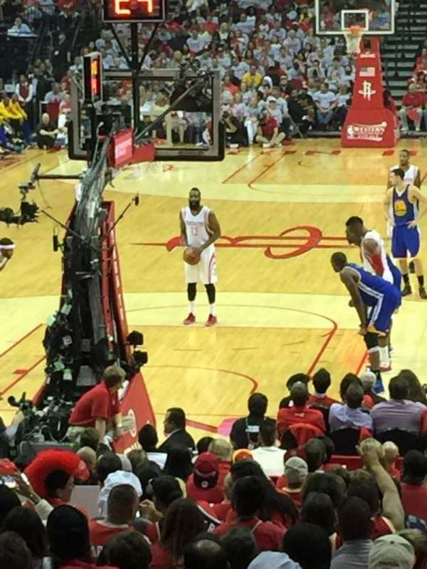 Toyota Center, section: 113, row: 16, seat: 9