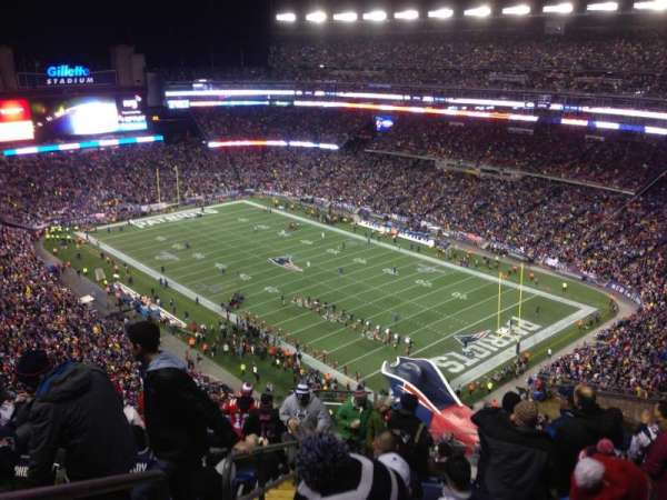 Gillette Stadium, section: 301, row: 18, seat: 12
