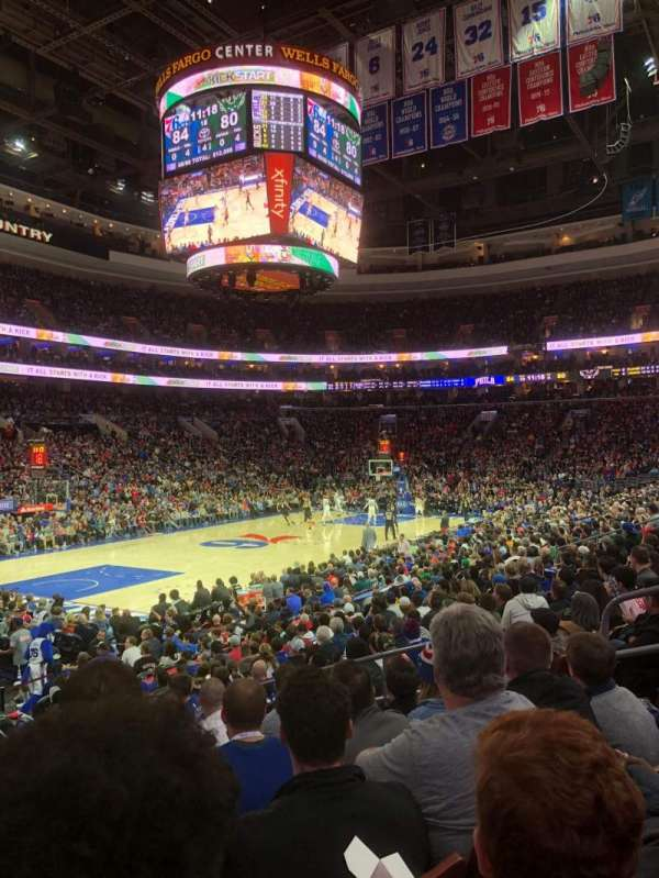 Wells Fargo Center, section: 122, row: 14, seat: 9