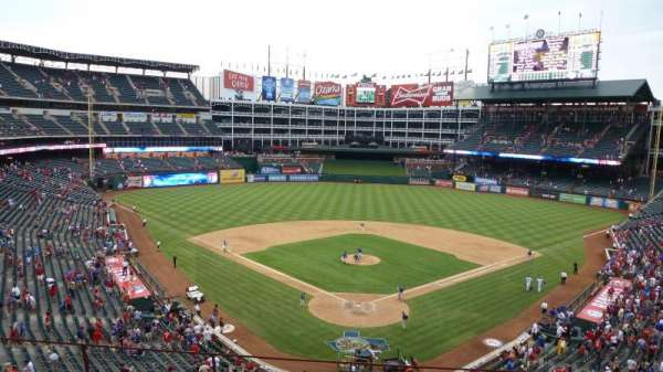 Globe Life Park in Arlington, section: Wandered behind home after the
