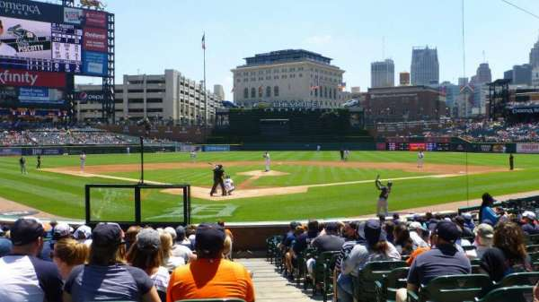 Comerica Park, section: 127, row: 20, seat: 1