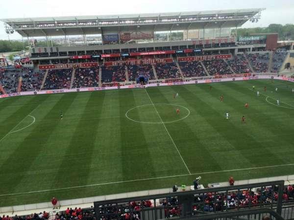 SeatGeek Stadium, section: 208, row: 13, seat: 1