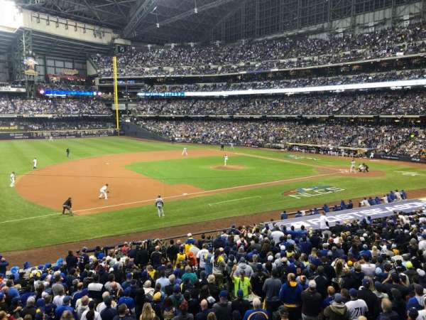 Miller Park, section: 226, row: 1, seat: 11