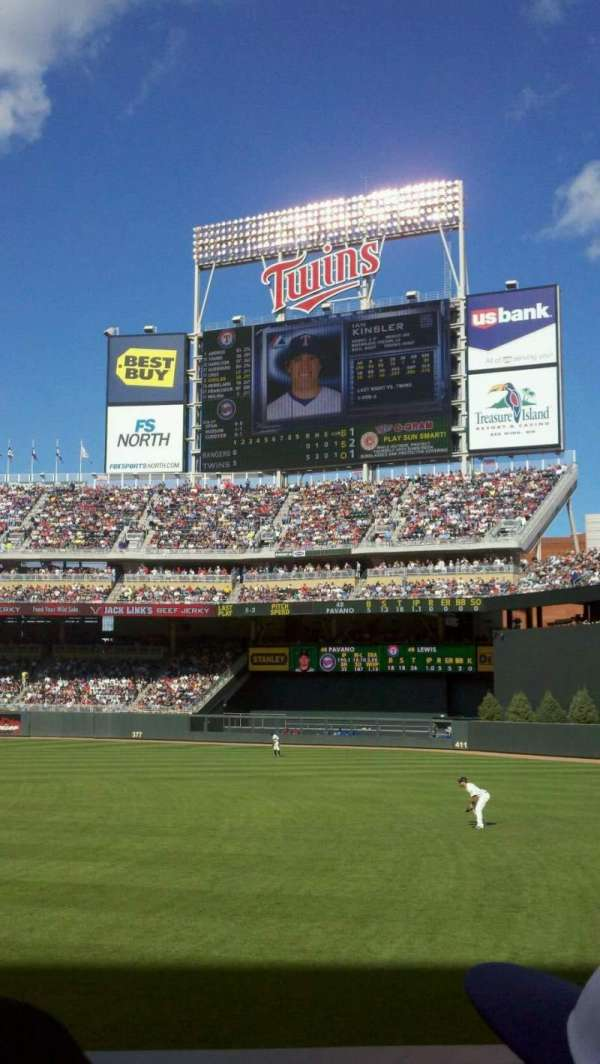 Target Field, section: 103, row: 9, seat: 8