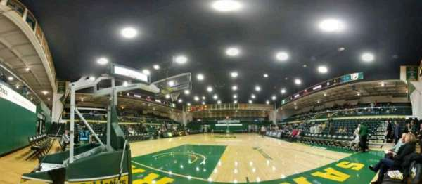War Memorial Gymnasium, section: north baseline, row: 1, seat: 1