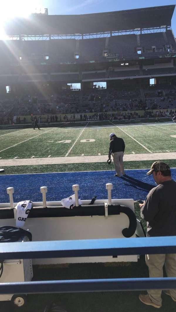 Georgia State Stadium, section: 132, row: 1, seat: 1