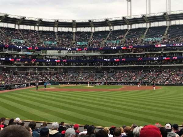 Progressive Field, section: 107, row: Q, seat: 8