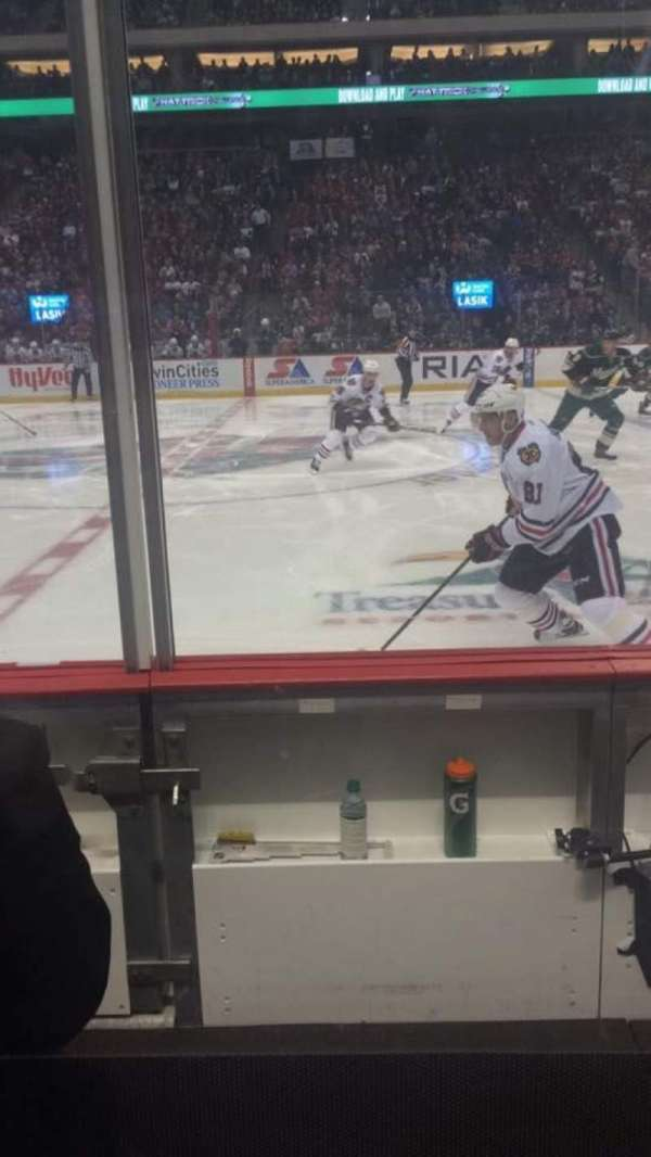 Xcel Energy Center, section: 103, row: 3, seat: 17