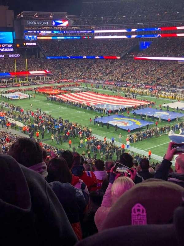 Gillette Stadium, section: 203, row: 17, seat: 21