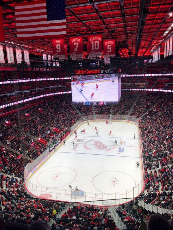 Little Caesars Arena, section: 221, row: 1, seat: 1