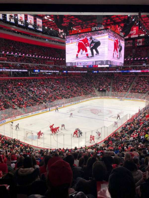 Little Caesars Arena, section: 101, row: 24, seat: 13