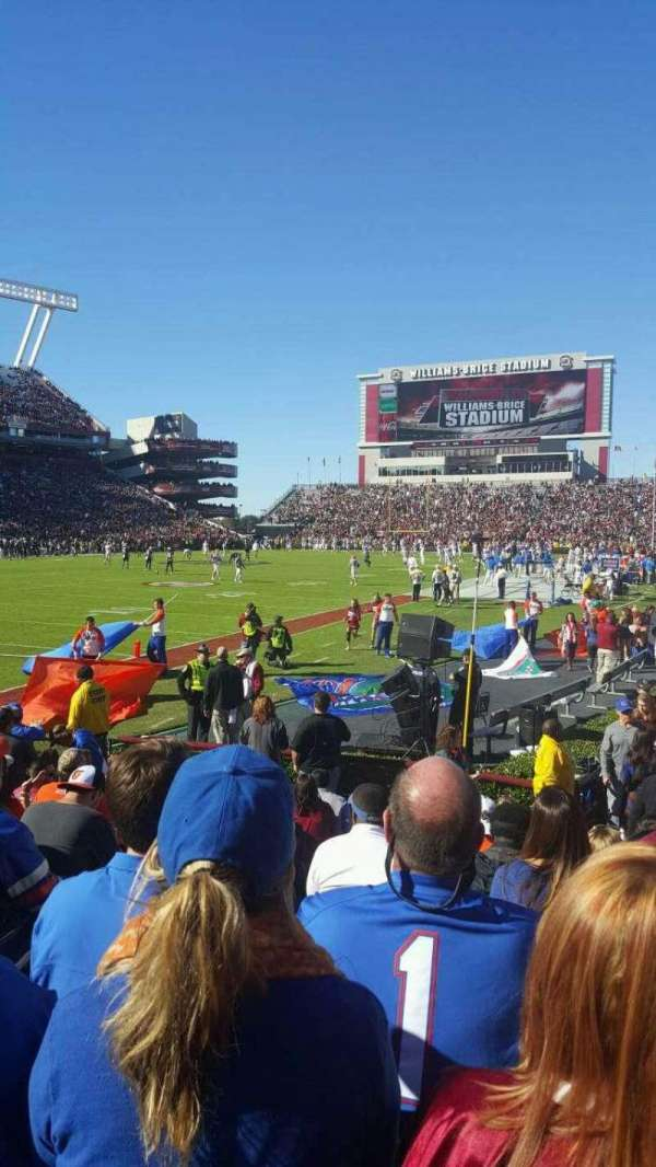 Williams-Brice Stadium, section: 15, row: 9, seat: 11