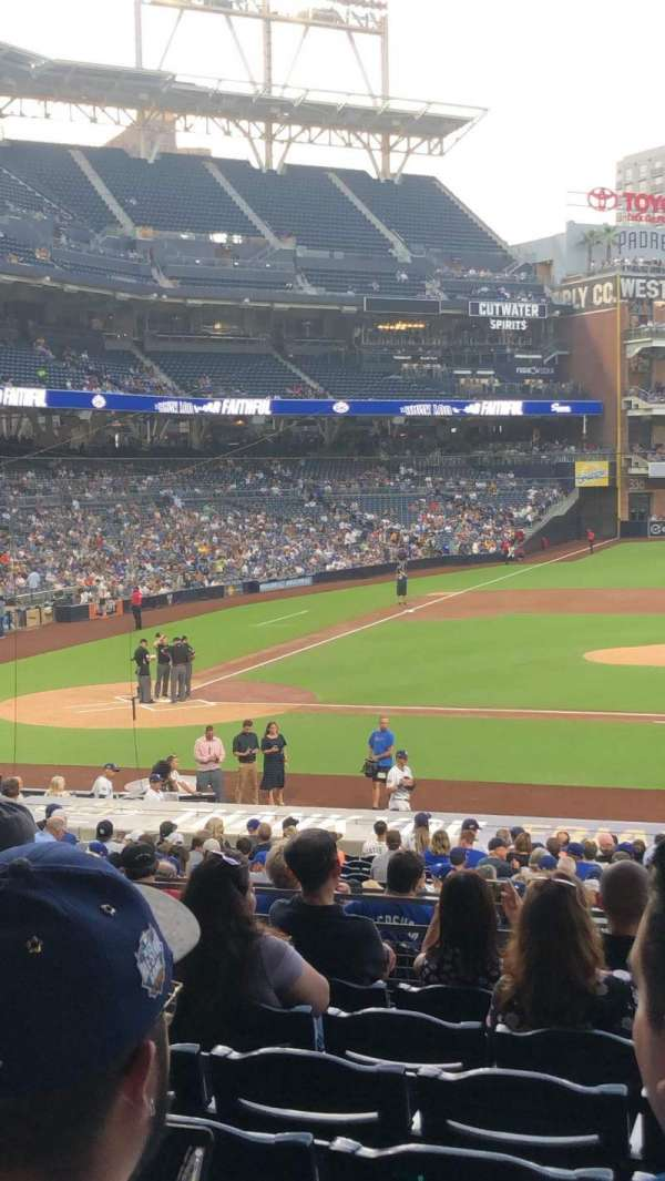 PETCO Park, section: 107, row: 33, seat: 12
