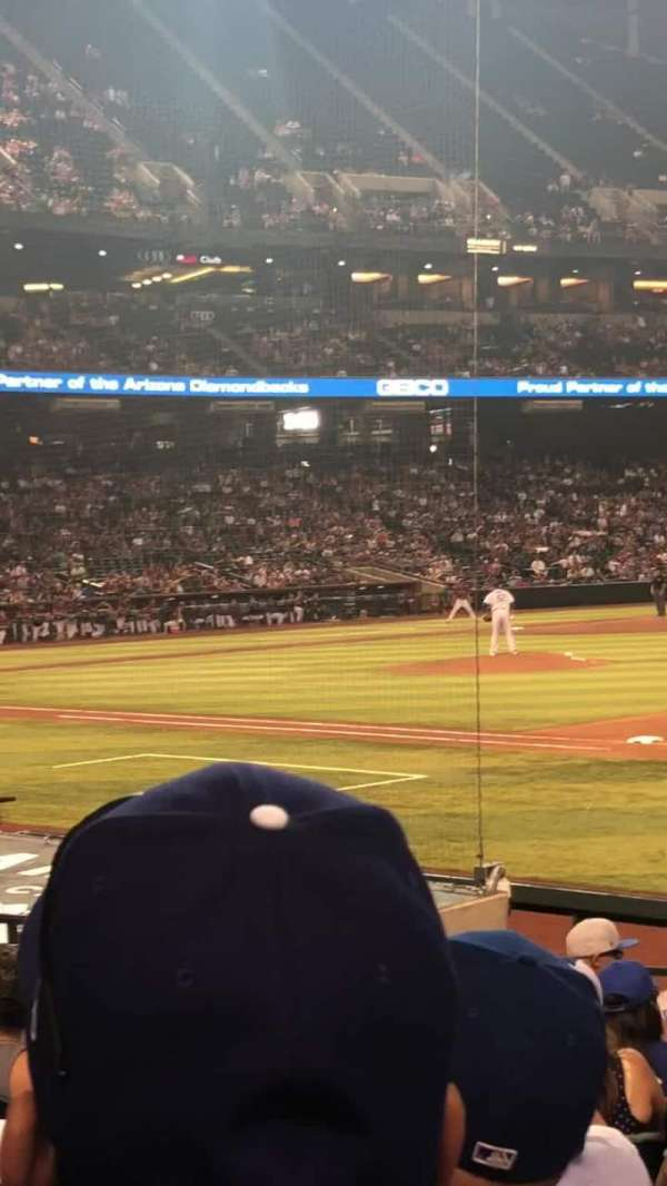Chase Field, section: 114, row: 14, seat: 3