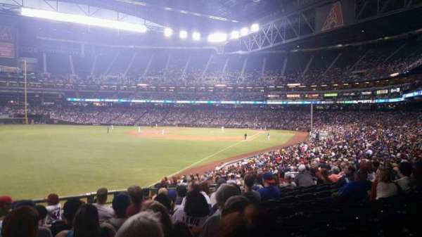 Chase Field, section: 136, row: 33, seat: 18