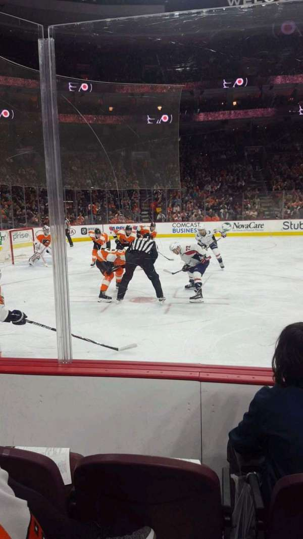 Wells Fargo Center, section: 123, row: 3, seat: 9
