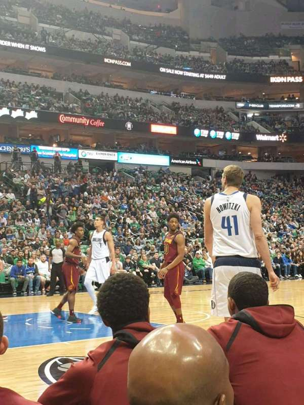 American Airlines Center, section: 120, row: AA, seat: 7