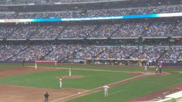 Miller Park, section: 224, row: 3, seat: 20