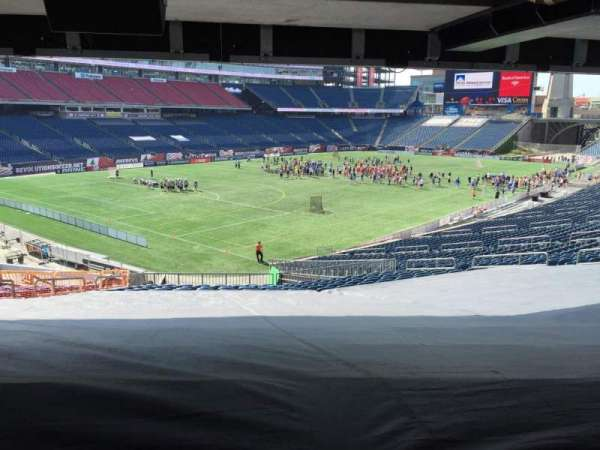 Gillette Stadium, section: 116, row: 38, seat: 15