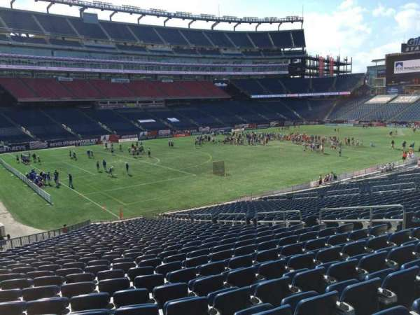 Gillette Stadium, section: 115, row: 34, seat: 12