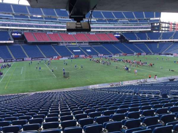 Gillette Stadium, section: 113, row: 38, seat: 12