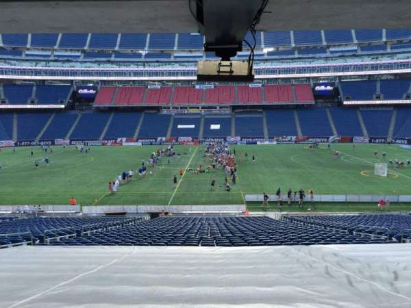 Gillette Stadium, section: 109, row: 38, seat: 12
