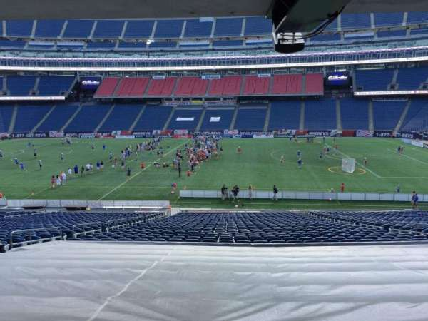 Gillette Stadium, section: 108, row: 38, seat: 12