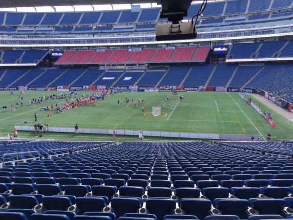 Gillette Stadium, section: 106, row: 38, seat: 12