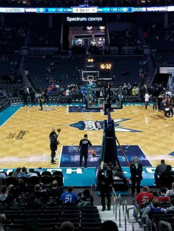 Spectrum Center, section: 110, row: Q, seat: 2