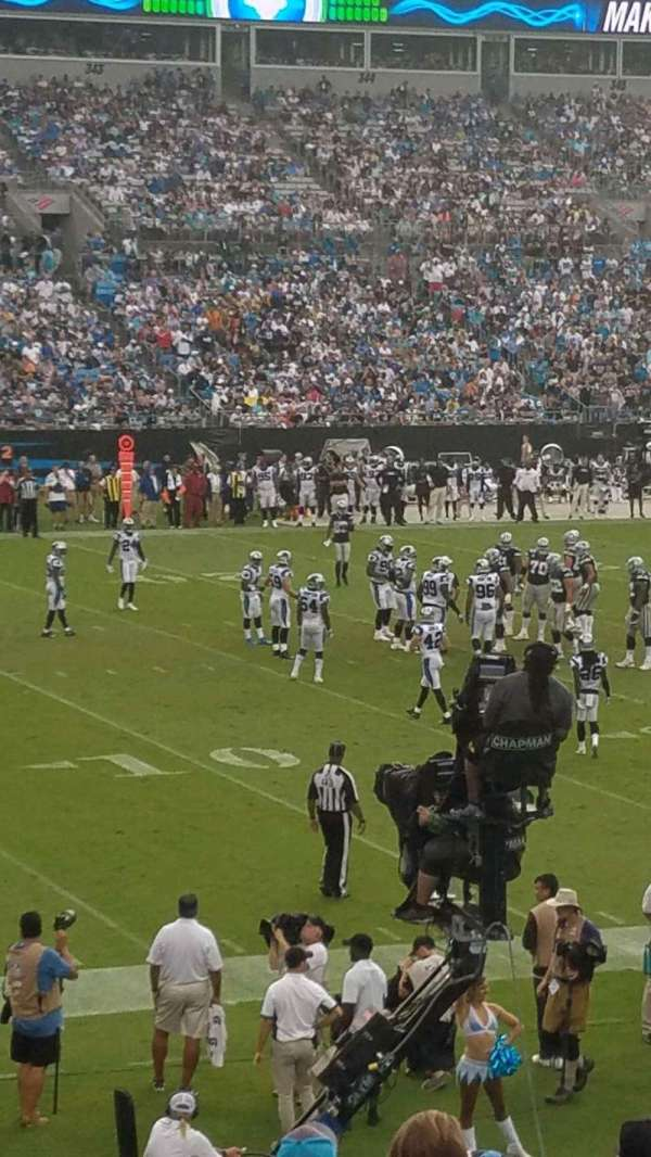 Bank of America Stadium, section: 116, row: 18, seat: 13