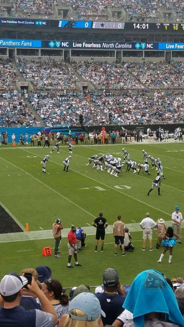 Bank of America Stadium, section: 116, row: 18, seat: 14