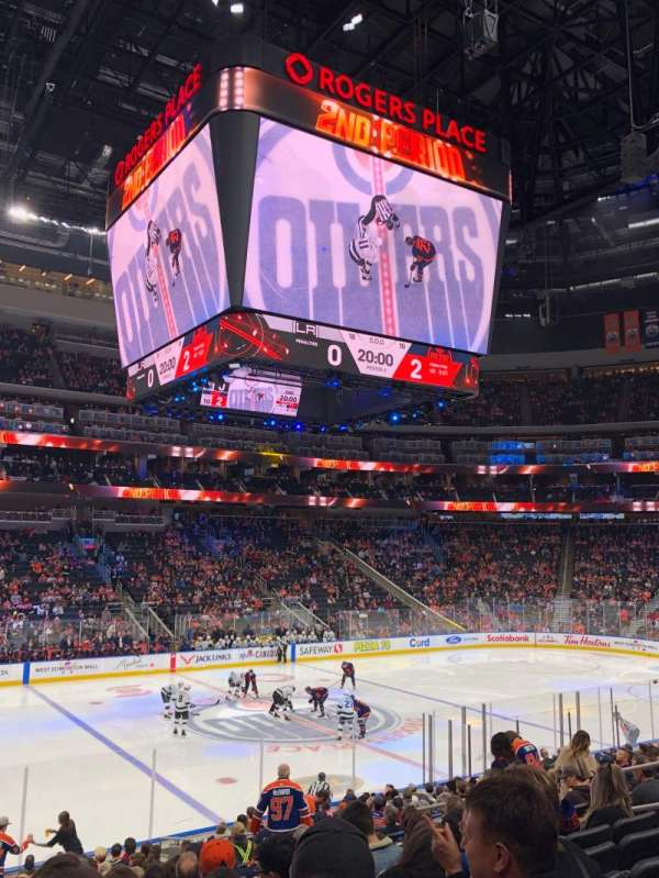 Rogers Place, section: 121, row: 19, seat: 11