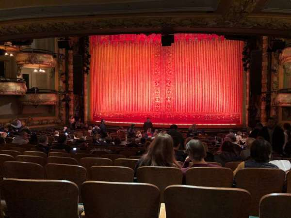 New Amsterdam Theatre, section: Orchestra, row: V, seat: 101