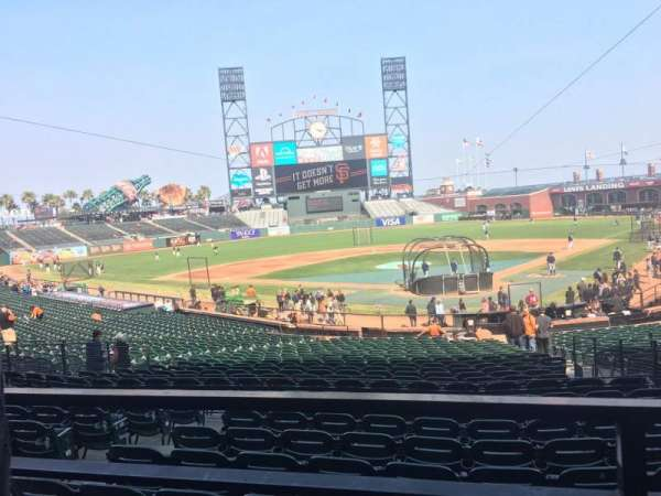 AT&T Park, section: 117, row: 31, seat: 5
