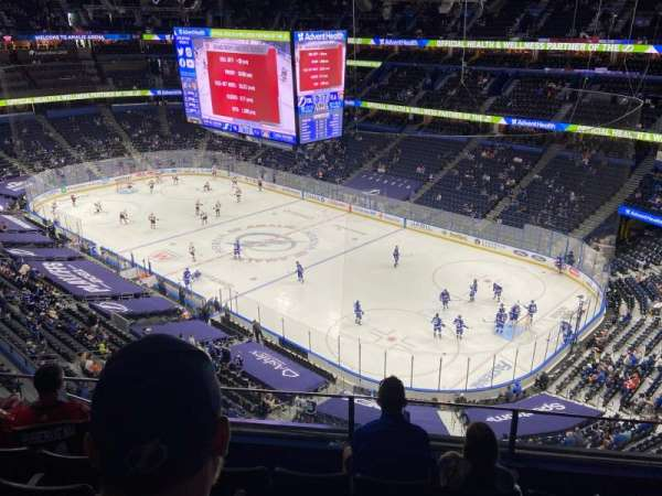 Amalie Arena, section: 327, row: E, seat: 10