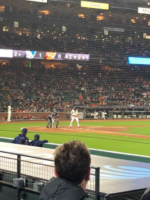 Oracle Park, section: PFC107, row: E, seat: 4