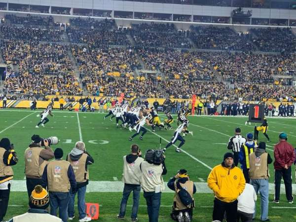Heinz Field, section: 131, row: B, seat: 3