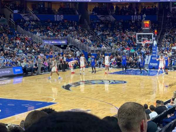 Amway Center, section: 117, row: 9, seat: 13