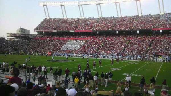 Williams-Brice Stadium, section: 7, row: 17, seat: 1