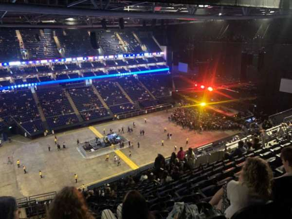 The O2 Arena, section: 417, row: Q, seat: 859