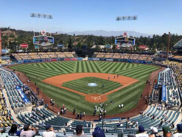 Dodger Stadium, section: 3RS, row: H, seat: 1
