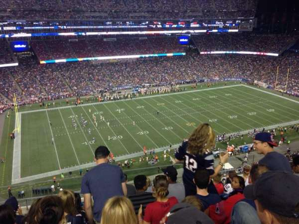 Gillette Stadium, section: 312, row: 7, seat: 3