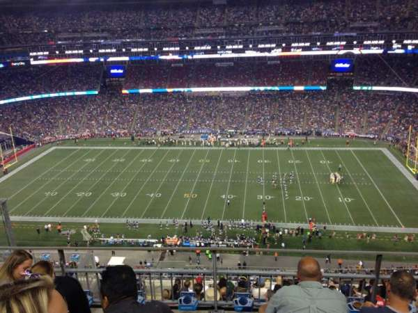Gillette Stadium, section: 307, row: 10, seat: 23