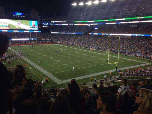 Gillette Stadium, section: 201, row: 9, seat: 17