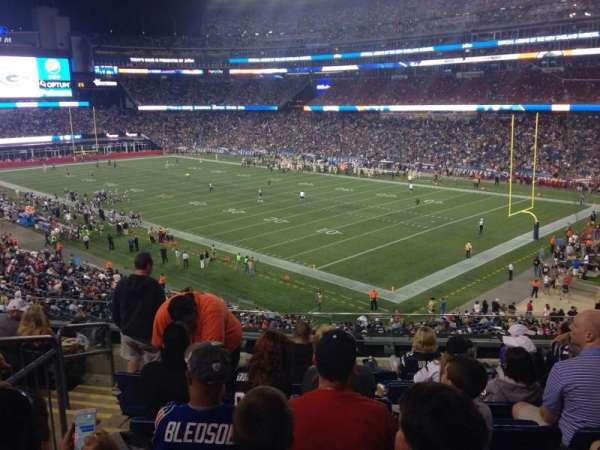 Gillette Stadium, section: 203, row: 8, seat: 16